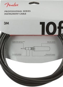 Fender Fender Professional Series Instrument Cable, Straight/Straight, 10', Black