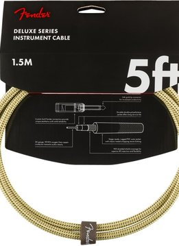 Fender Fender Deluxe Series Instruments Cable, Straight/Straight, 5', Tweed