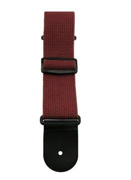 "Sims Music 2"" Cotton Guitar Strap, Burgundy"