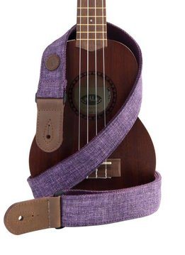 Kala Kala Sonoma Coast Deluxe Ukulele Cloth Strap, Purple