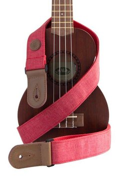 Kala Kala Sonoma Coast Deluxe Ukulele Cloth Strap, Red