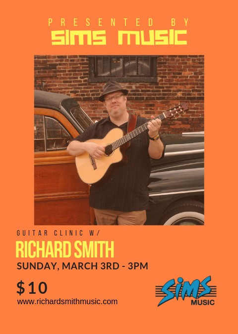 Richard Smith Guitar Clinic Ticket