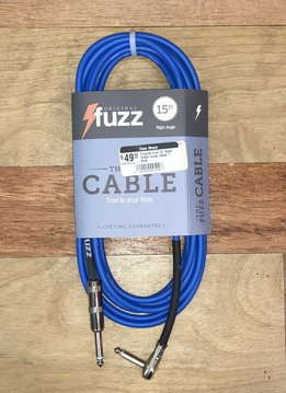 Fuzz Original Fuzz 15' Right Angle Guitar Cable - Blue