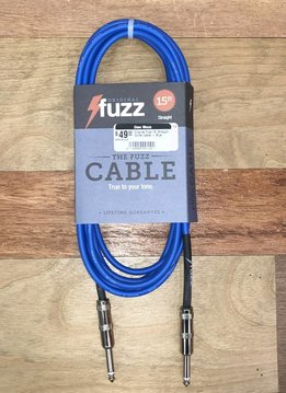 Fuzz Original Fuzz 15' Straight Guitar Cable - Blue
