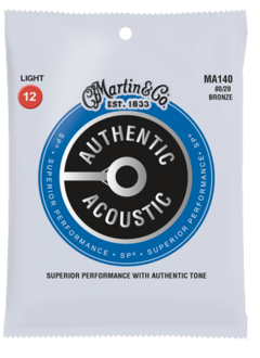 Martin Martin Authentic  80/20 Acoustic Light Set, 12-54