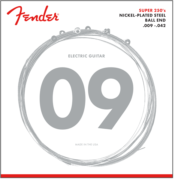 Fender Fender 250L Nickle Plated Electric Guitar Strings 9-42