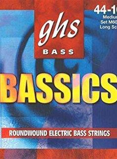 GHS GHS M6000 Bass Bassics 4-String Bass Set, 44-106