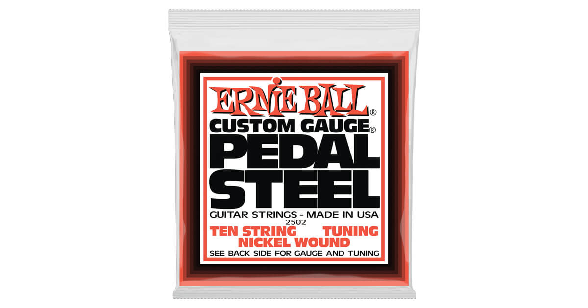 Ernie Ball Ernie Ball 2501 10-String C6 Pedal Steel String Set, Nickel 12-66