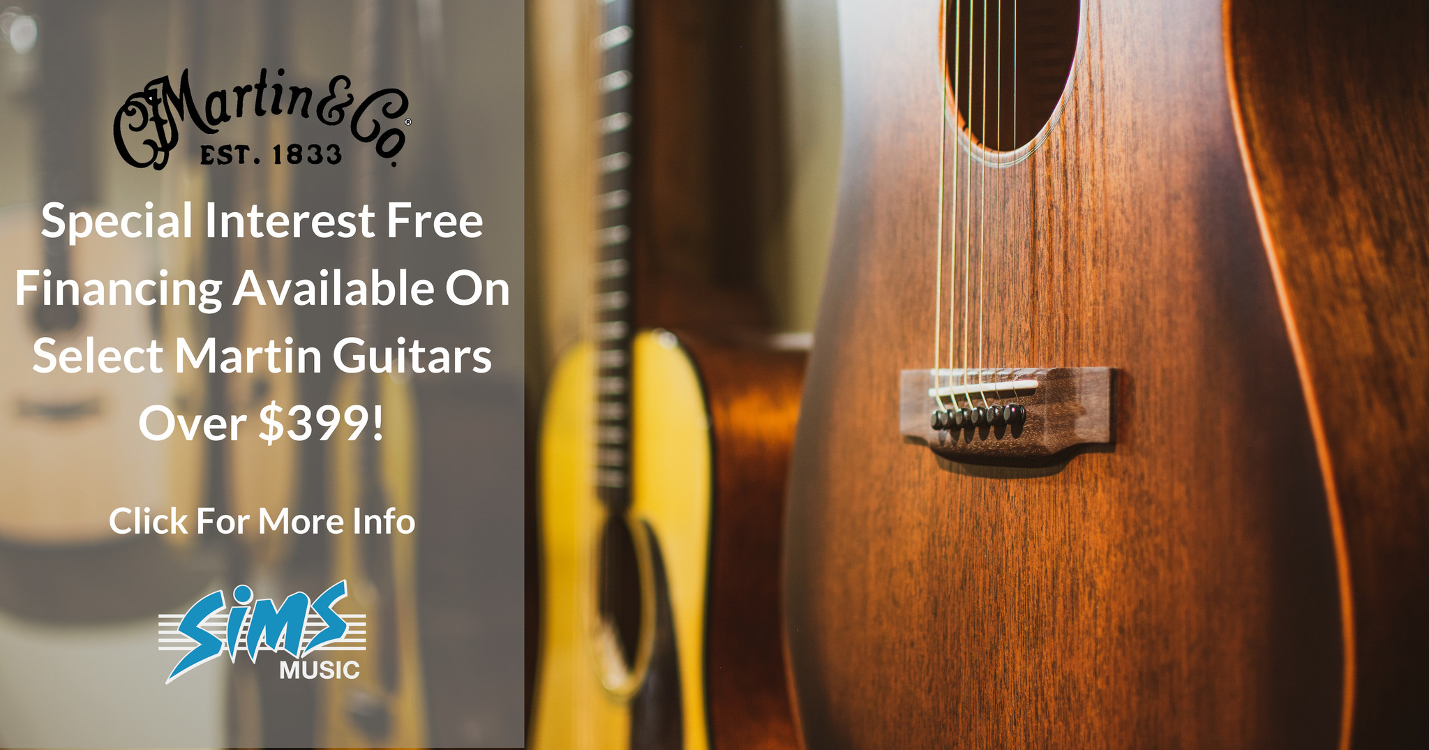 Blog - Martin Guitar Special Financing! - Sims Music