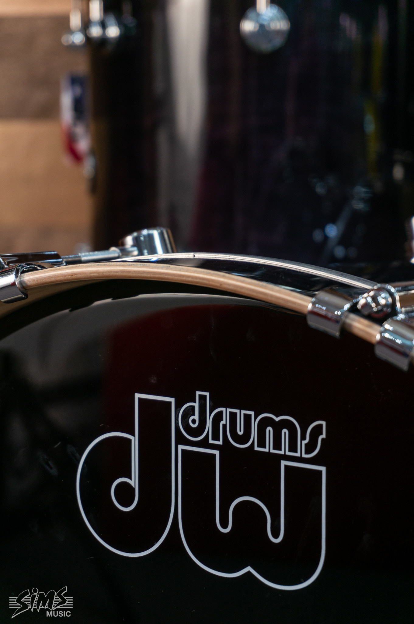 """DW DW Performance Series 5-Piece Pack With Snare Drum - 22"""" - Ebony Stain Lacquer"""