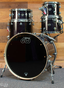 "DW DW Performance Series 5-Piece Pack With Snare Drum - 22"" - Ebony Stain Lacquer"