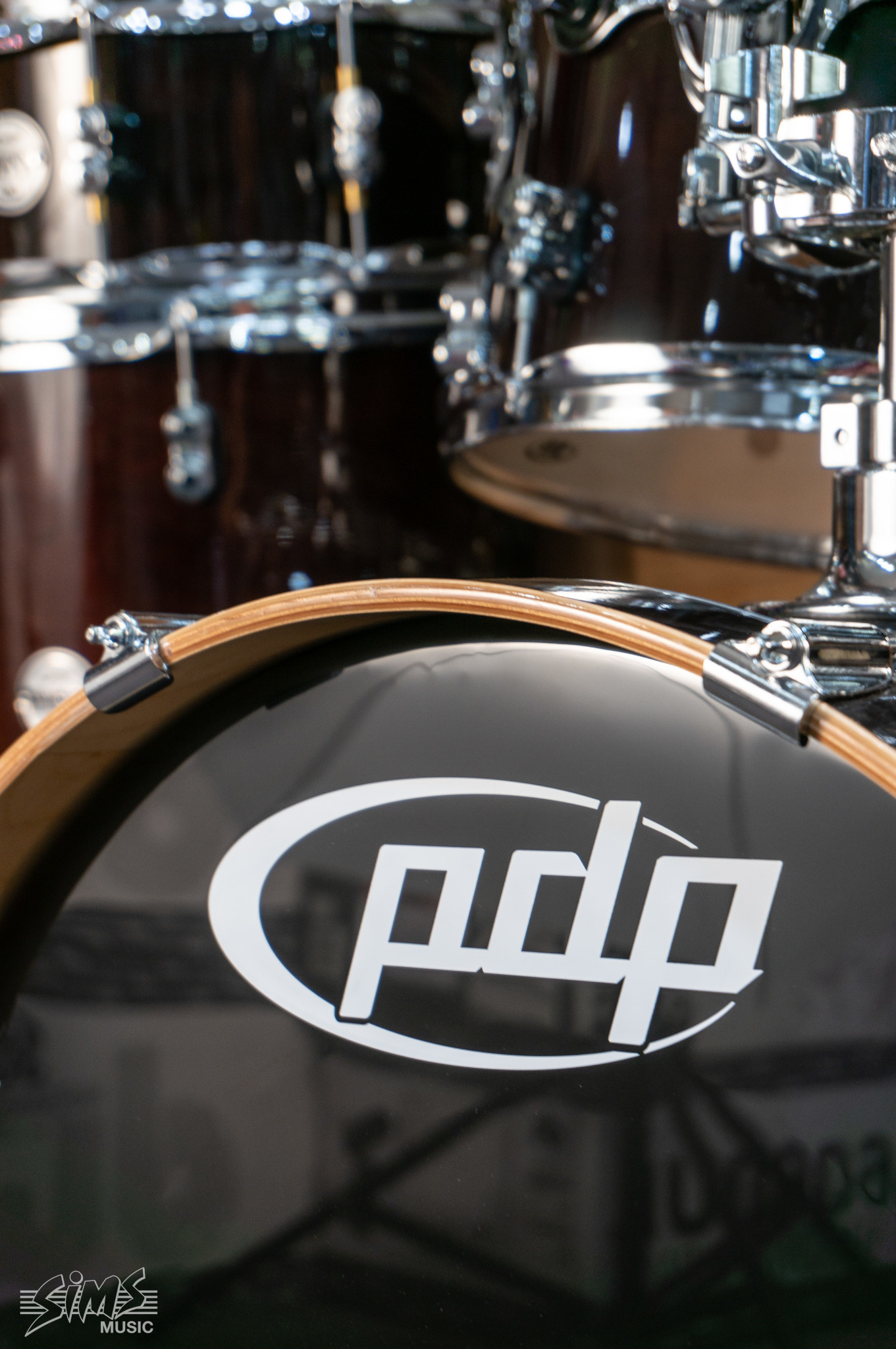 PDP PDP Concept Maple 5 Piece Shell Pack,  Transparent Walnut