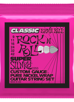 Ernie Ball Ernie Ball Classic Pure Nickel Wrap Super Slinky Strings, 9-42