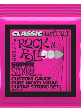 Ernie Ball Ernie Ball Classic Pure Nickel Wrap Super Slinky Strings, 9-42