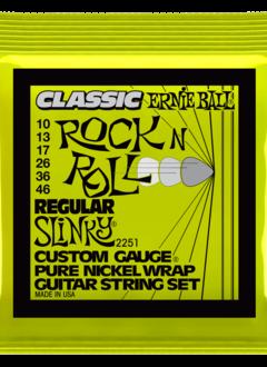 Ernie Ball Ernie Ball Classic Pure Nickel Wrap Regular Slinky Strings, 10-46