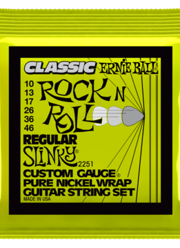 Ernie Ball Ernie Ball Classic Pure Nickel Wrap Regular Slinky Strings, 10-46