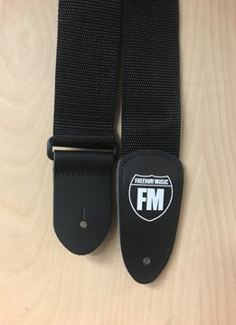 """Levy's Freeway Music 2"""" Deluxe Polypro Guitar Strap, Black"""