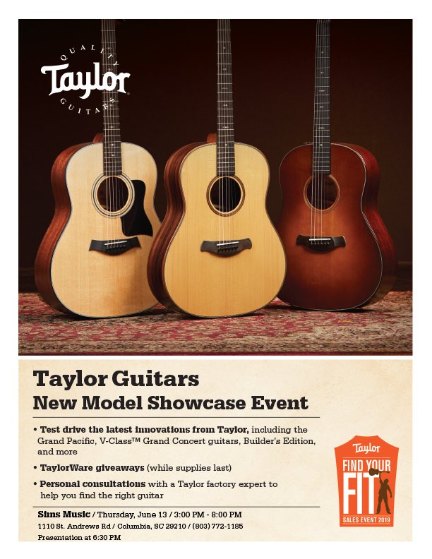Taylor New Model Showcase Event