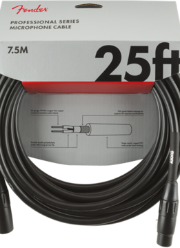 Fender Fender Professional Series Microphone Cable, 25', Black