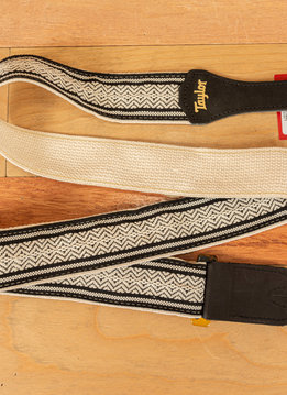 Taylor Taylor Strap, White/Black Jacquard Cotton, 2""