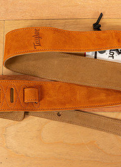 """Taylor Taylor Guitar Strap, Honey, Embroidered Suede, 2.5"""""""