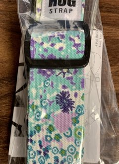 The Hug Strap All in One Hug Strap - Teal and Purple Flowers