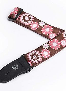 Planet Waves Planet Waves Uke Strap Brown/Pink Flowers
