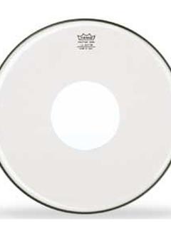 "Remo Remo 16"" Clear Controlled Sound, White Dot"