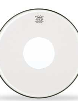 "Remo Remo 16"" Clear Controlled Sound, White Dot"