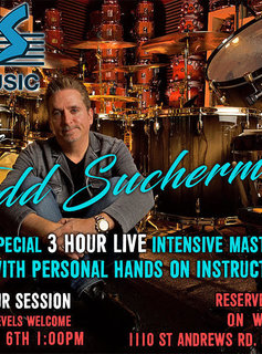 Todd Sucherman Masterclass - October 6th at 1PM