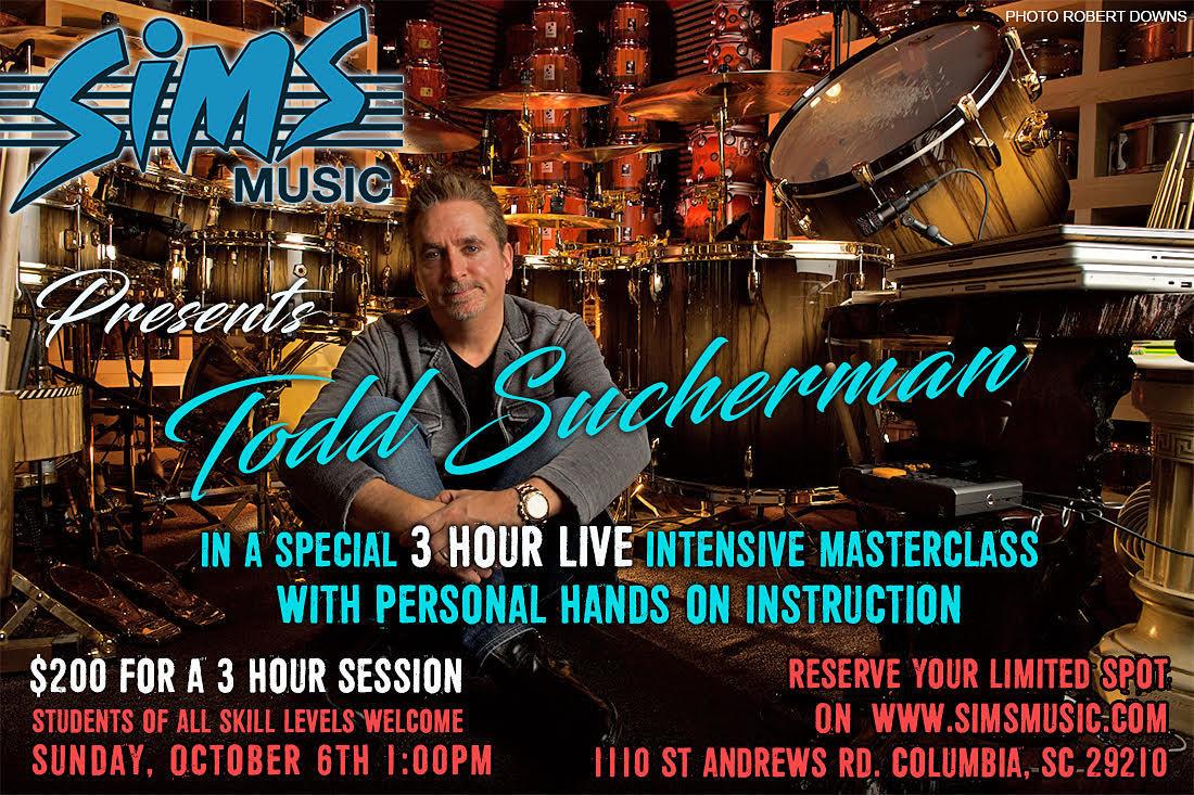 Todd Sucherman Masterclass - October 6th at 1PM