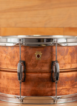 Ludwig Ludwig 8x14 Copper-Phonic Snare Drum, Natural Patina Shell, Imperial Lugs, - Mint Condition
