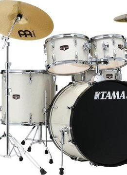 Tama Tama Imperial Star 5pc Kit with Hardware and Cymbals, Vintage White Sparkle
