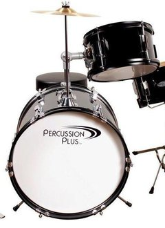 Percussion Plus Percussion Plus 3 Piece Mini Drum Set - Black