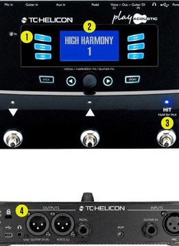 TC Electronics TC Helicon Play Acoustic Vocal Harmony FX - Guitar FX Pedal