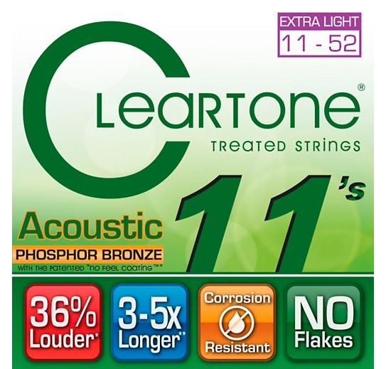 Cleartone Cleartone Phosphor Bronze Acoustic Strings Custom Light 11-52