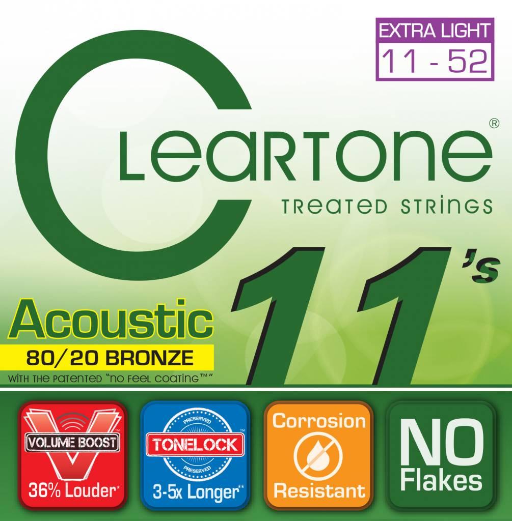 Cleartone Cleartone 80/20 .011-.052 Custom Light Acoustic Strings