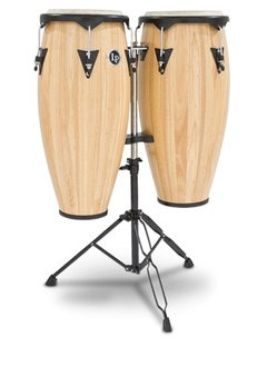 LP LP City Series Conga Set w/ Stand, Natural