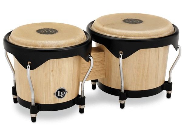 LP LP City Series Wood Bongos, Natural