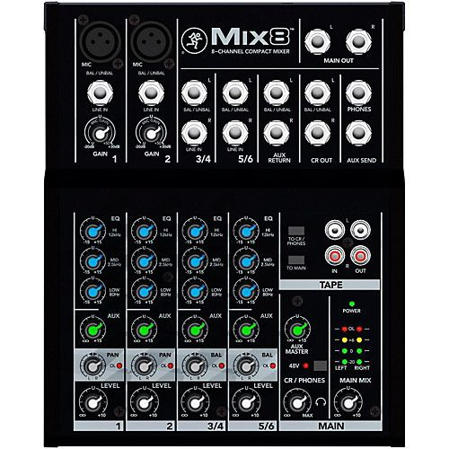 Mackie Mackie Mix8 8-Channel Compact Mixer