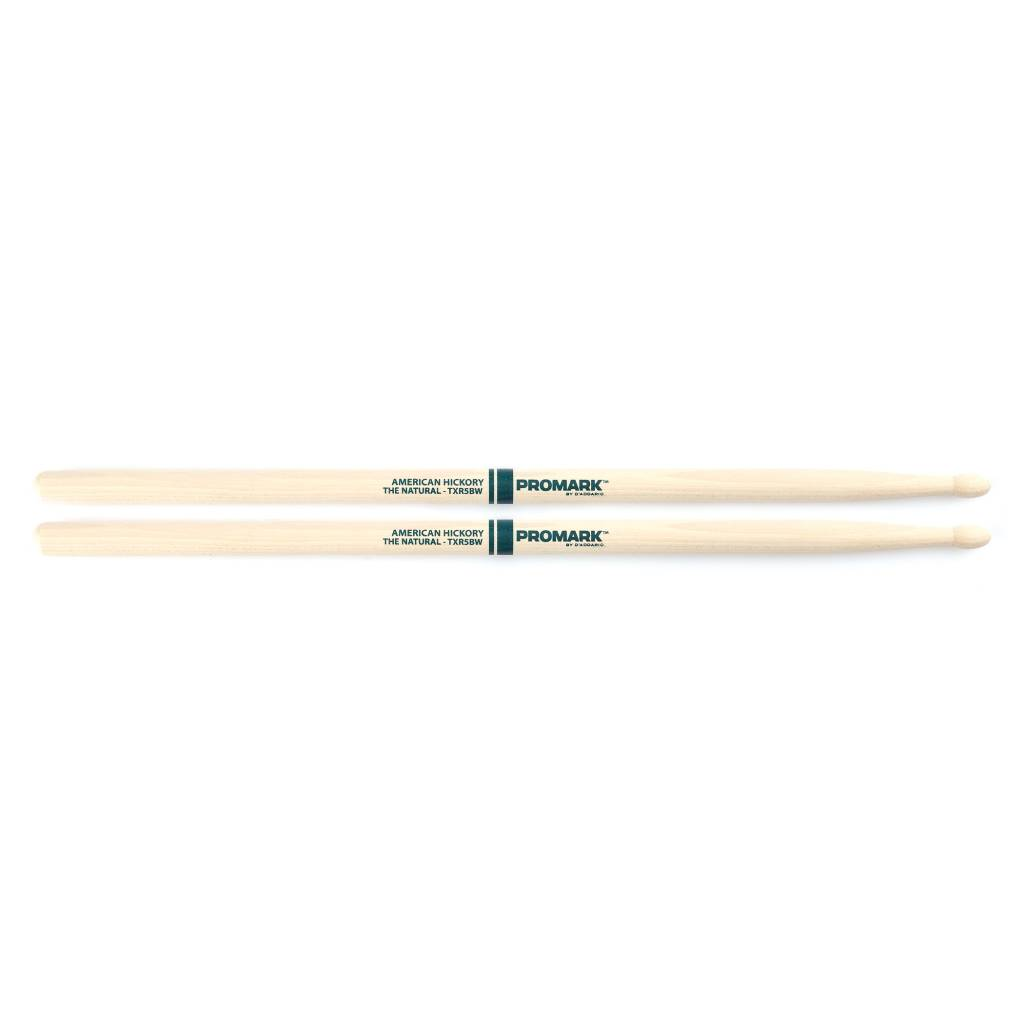 """Pro-Mark ProMark  Hickory 5B """"The Natural"""" Wood Tip"""