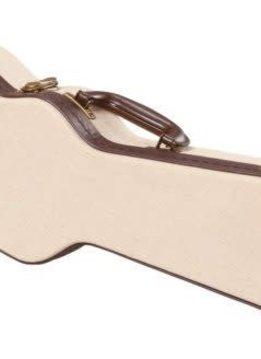Gator Cases Gator Deluxe Wood Case for Concert Style Ukulele, Journeyman Burlap Exterior