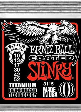 Ernie Ball Ernie Ball 3115 Coated Skinny Top Heavy Bottom Electric String Set, 10-52