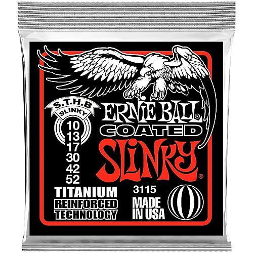 Ernie Ball Ernie Ball 3115 Coated Skinny Top Heavy Bottom Electric String Set, 10-52