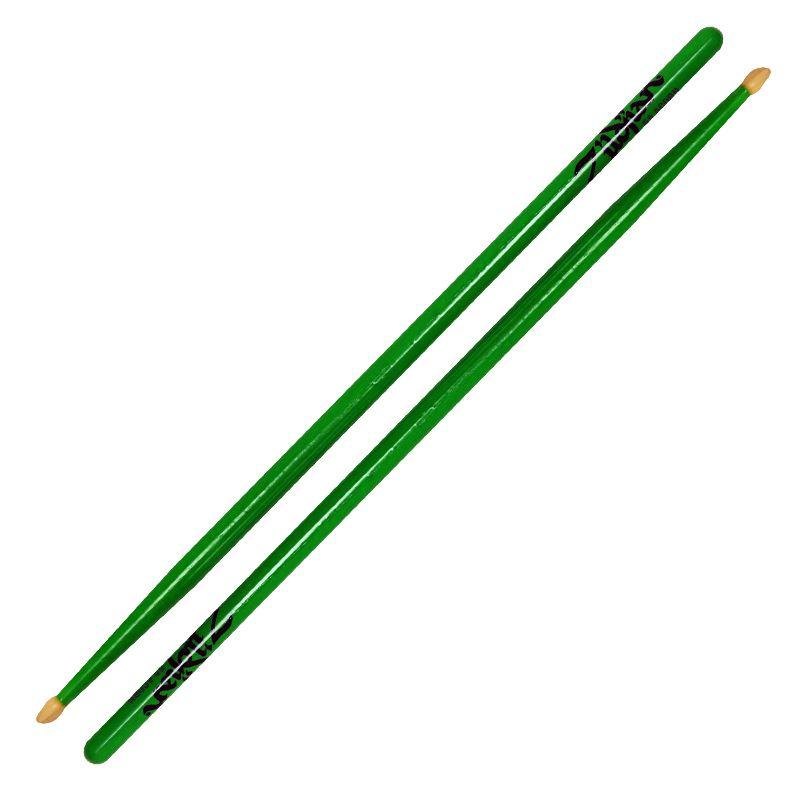 Zildjian Zildjian Z5AACDGG 5A Acorn Wood Tip, Neon Green