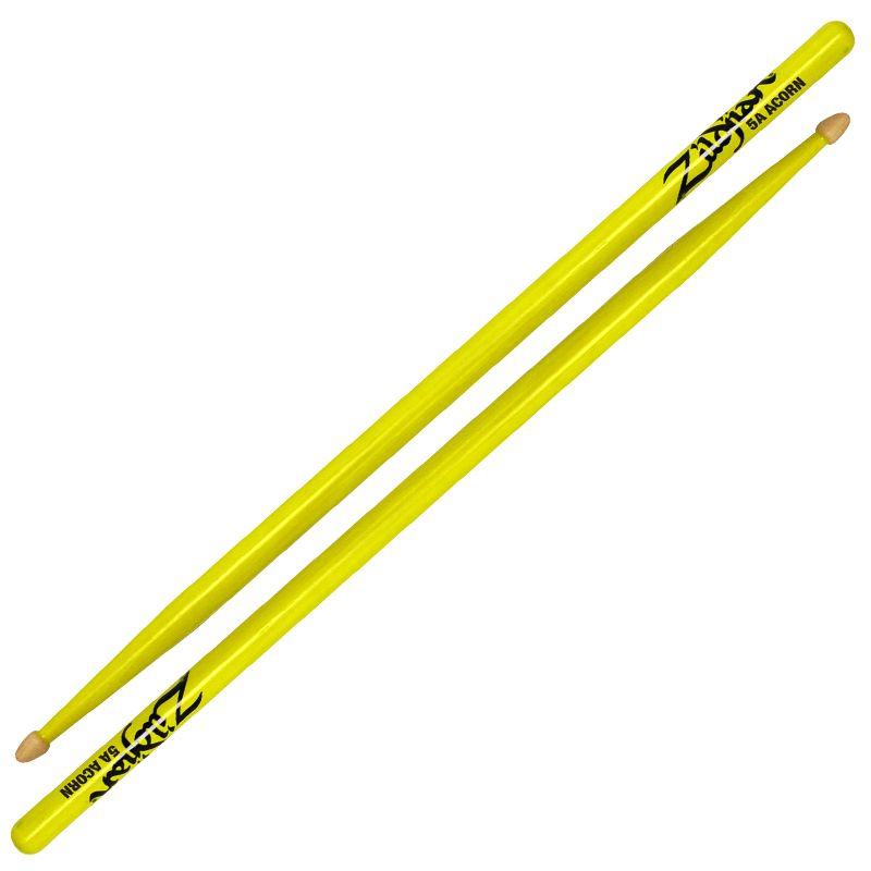 Zildjian Zildjian 5A Acorn Wood Tip, Neon Yellow