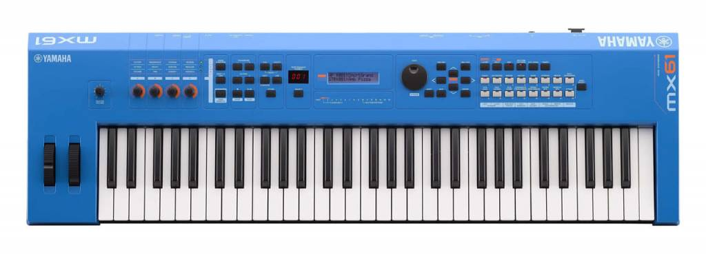 Yamaha Yamaha MX61BU 61 Key Synth, Blue