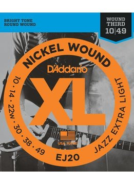 D'Addario D'Addario EJ20 Nickel Wound Jazz Extra Light