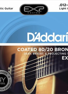 D'Addario D'Addario EXP11 80/20 Acoustic Guitar Strings, Coated