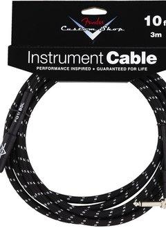 Fender Fender® 10' Custom Shop Series Instrument Cable, Black, Angled